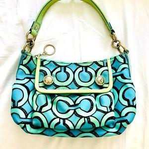 Coach Poppy Retro handbag small and blue